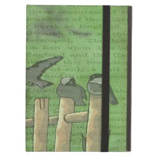 鳥およびヒマワリ iPad AIRケース