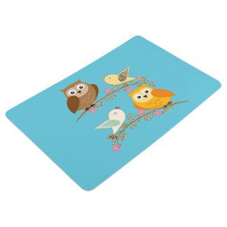 鳥およびフクロウ フロアマット
