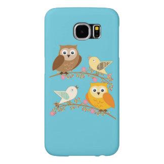 鳥およびフクロウ SAMSUNG GALAXY S6 ケース