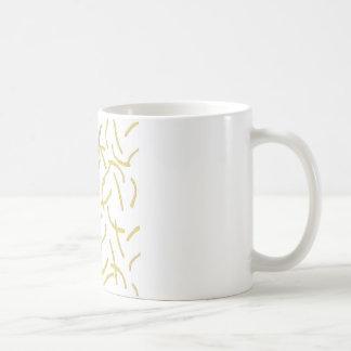 鳥およびフライドポテト コーヒーマグカップ