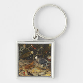 鳥および昆虫1637年の静物画 キーホルダー
