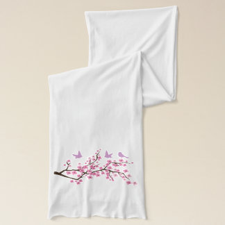 鳥および桜 スカーフ