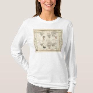 鳥および水陸両生動物の配分 Tシャツ