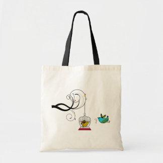 鳥かごの鳥のトートバック トートバッグ