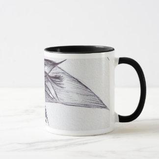 鳥か植物 マグカップ