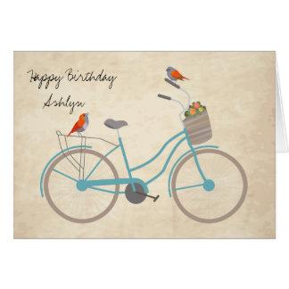 鳥が付いている自転車 カード