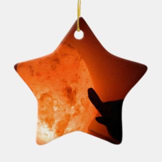 鳥が付いているHimilayanの塩ランプ セラミックオーナメント