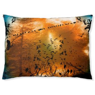 鳥との日没 ペットベッド