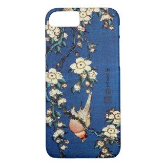 鳥と枝垂桜、北斎の鳥および泣く桜、Hokusai iPhone 8/7ケース