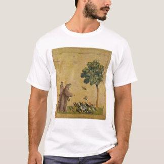 鳥に説教するAssisiのSt Francis Tシャツ