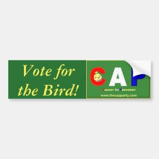 鳥のための投票! バンパーステッカー