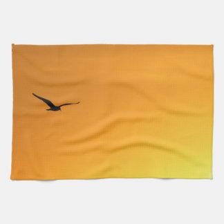 鳥のアメリカ人のMojoの台所タオルのシルエット キッチンタオル