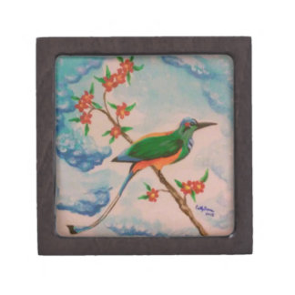 鳥のイメージの小さいjewlery箱 ギフトボックス