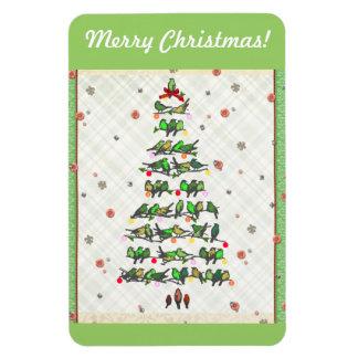 鳥のクリスマスツリー マグネット