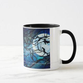 鳥のコーヒー・マグとの月光 マグカップ