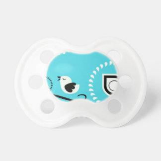 鳥のデザインのペイズリーの青色児Paci おしゃぶり