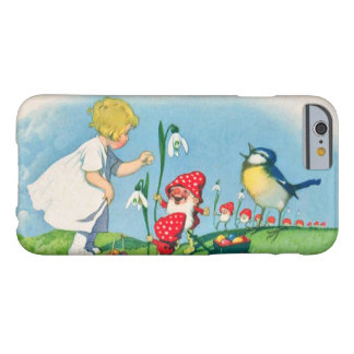 鳥のバスケットを歌っている女の子のイースターLilly格言の小妖精や小人 Barely There iPhone 6 ケース