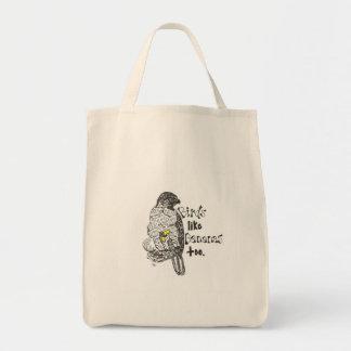鳥のバナナの再使用可能な買い物袋 トートバッグ