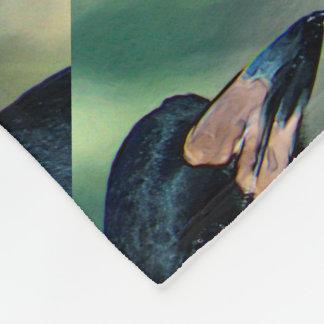 鳥のポートレート フリースブランケット