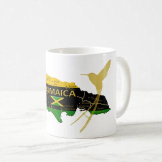 鳥のマグをぶんぶんいうジャマイカの教区色の金ゴールド コーヒーマグカップ
