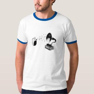 鳥のレコードプレーヤー Tシャツ