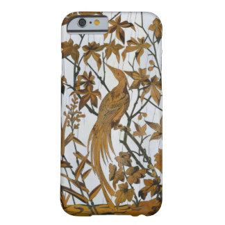 鳥のヴィンテージのフランス語によって切り分けられる木 BARELY THERE iPhone 6 ケース
