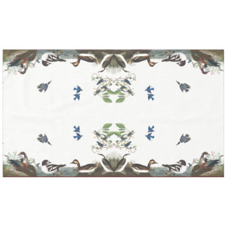 鳥の動物の野性生物のテーブルクロスのAudubonのコラージュ テーブルクロス