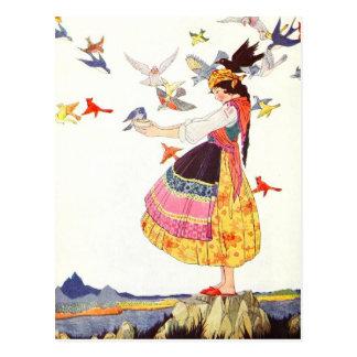 鳥の呼出し ポストカード