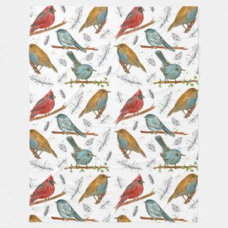 鳥の基本的なブルーバードの《鳥》アメリカゴガラ フリースブランケット