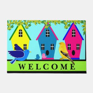鳥の家の歓迎された玄関マット ドアマット