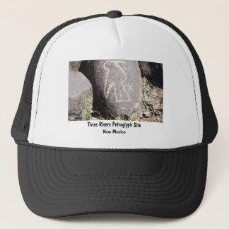 鳥の岩石彫刻 キャップ