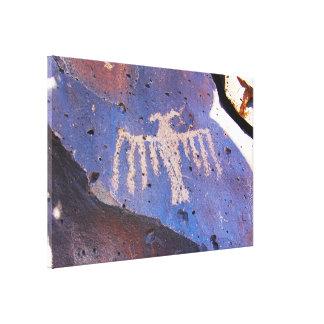 鳥の岩石彫刻 キャンバスプリント