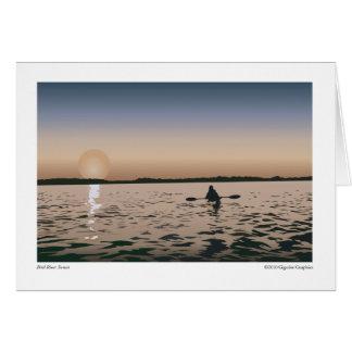 鳥の川の日没 カード
