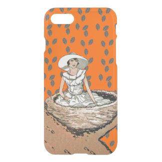 鳥の巣に坐るヴィンテージの女性White服帽子 iPhone 8/7 ケース