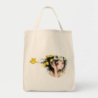 鳥の巣の食料雑貨のトートのキャンバスのバッグ トートバッグ