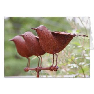 鳥の彫刻カード カード