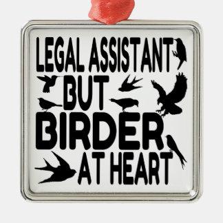 鳥の恋人の弁護士の助手 メタルオーナメント