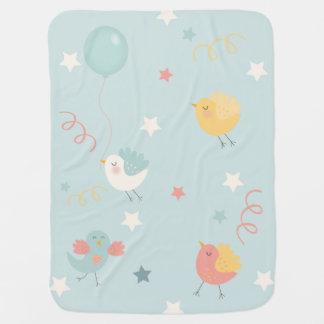 鳥の星のパーティーの吹流しの新生児の子供部屋 ベビー ブランケット