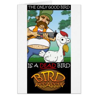 鳥の暗殺者の広告宣伝 カード