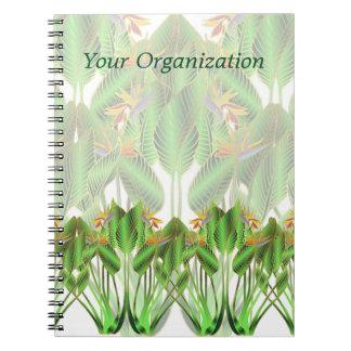 鳥の楽園の花のノート ノートブック