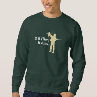 鳥の狩り句: 飛べば死にます、 スウェットシャツ