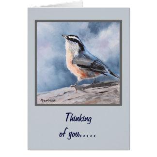 鳥の精神病院のファインアートの挨拶状 カード