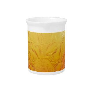 鳥の設計のオレンジアールデコのガラスつぼ ピッチャー