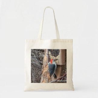 鳥の送り装置のキツツキ トートバッグ