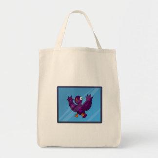 鳥の(ばちゃばちゃ)跳ねるのバッグ トートバッグ