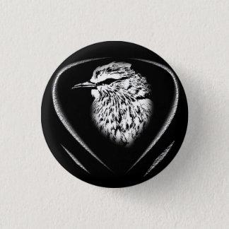 鳥のpotraitが付いているボタン 3.2cm 丸型バッジ