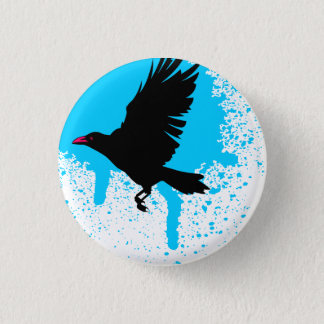 鳥はボタンを飛ばしました 3.2CM 丸型バッジ