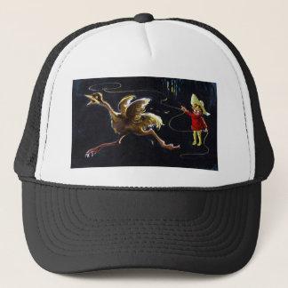 鳥は投げ縄を持つ人から走ります キャップ