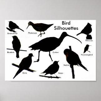 鳥は2ポスターのシルエットを描きます ポスター