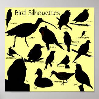 鳥は(16)ポスターのシルエットを描きます ポスター